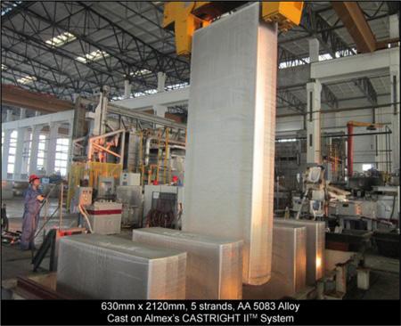 AA5083 Aluminum Alloy Cast on CASTRIGHT II